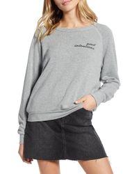 d09bbcb2782c Project Social T - Good Intentions bad Habits Reversible Sweatshirt - Lyst