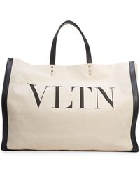 Valentino Vltn Grande Plage Small Tote Bag - Multicolour