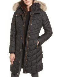 Andrew Marc   Meadow Down & Feather Fill Coat With Faux Fur Trim   Lyst