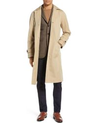 Ring Jacket - Trim Fit Cotton Trench Coat - Lyst