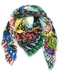 Burberry - Newsprint Scribble Large Scarf - Lyst