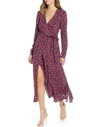 The Fifth Label - Celebrated Floral Wrap Dress - Lyst