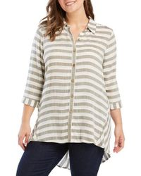 Foxcroft - Casey Dobby Stripe Shirt - Lyst