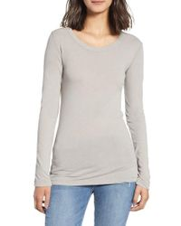 James Perse - 'ballet' Long Sleeve Tee - Lyst