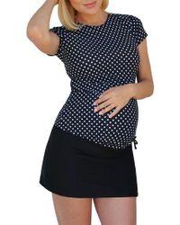 Mermaid Maternity - Foldover Maternity Swim Skirt With Attached Boyshorts - Lyst