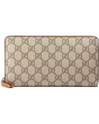 dddac9cc1797 Gucci - Linea Gg Supreme Canvas Zip Around Wallet - Lyst