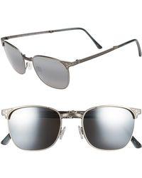 Maui Jim - 'stillwater' 52mm Polarized Sunglasses - Antique Pewter/neutral Grey - Lyst