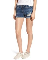 Joe's - The Ozzie Roll Cuff Denim Shorts - Lyst