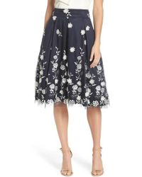 Eliza J - Embroidered A-line Skirt - Lyst