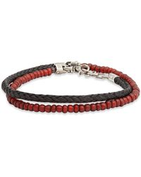 Title Of Work - Tahitian Pearl & Leather Wrap Bracelet - Lyst