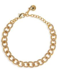 BaubleBar - Crystal Covered Link Bracelet - Lyst