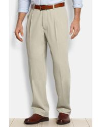 Tommy Bahama - 'new St. Thomas' Flat Front Silk & Cotton Pants - Lyst