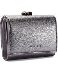 Ted Baker - Valery Metallic Leather Bobble Wallet - - Lyst