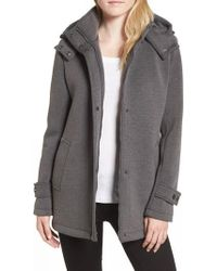 Kenneth Cole - Bonded Hooded A-line Jacket - Lyst