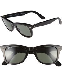 8d803be441 Lyst - Ray-Ban  classic Wayfarer  50mm Polarized Sunglasses in Black ...