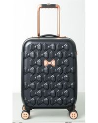 Ted Baker - Small Beau 22-inch Bow Embossed Four-wheel Trolley Suitcase - - Lyst