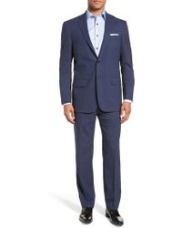 Hart Schaffner Marx - New York Classic Fit Stretch Solid Wool Suit - Lyst