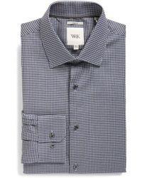 W.r.k. - Extra Trim Fit Stretch Houndstooth Dress Shirt - Lyst