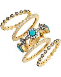 Freida Rothman 'metropolitan' Stackable Rings (set Of 5)