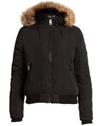 CALVIN KLEIN 205W39NYC - Hooded Bomber Jacket With Faux Fur Trim - Lyst