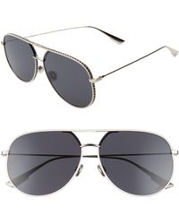 2088145972cb Acne Studios Large Aviator Sunglasses - Palladium/silver Mirror in Metallic  - Lyst