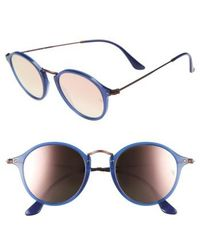 Ray-Ban - 49mm Round Sunglasses - - Lyst