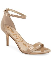 b7b8116e5 Lyst - Sam Edelman Patti Strappy Sandal in Natural
