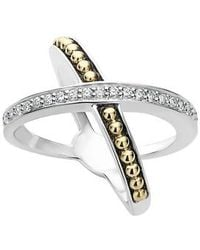 Lagos - Ksl Diamond Pave Crossover Ring - Lyst