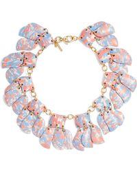 Lele Sadoughi - Iris Petal Collar Necklace - Lyst