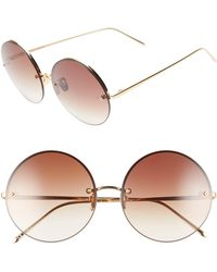 Linda Farrow - 58mm Gradient Round Sunglasses - Lyst