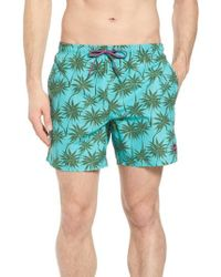 BOSS - Piranha Palm Tree Swim Trunks - Lyst