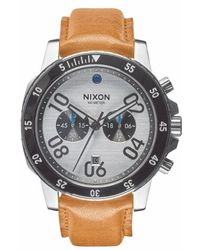 Nixon | 'the Ranger' Chronograph Leather Strap Watch | Lyst