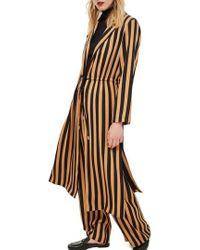 TOPSHOP - Stripe Duster Jacket - Lyst