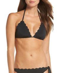 La Blanca - Petal Pusher Solid Ruffle Triangle Bikini Top - Lyst