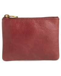 Madewell - The Leather Pouch Wallet - Burgundy - Lyst