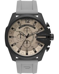 DIESEL - Diesel Mega Chief Chronograph Silicone Strap Watch - Lyst