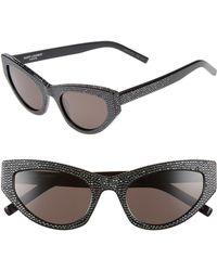 Saint Laurent - Grace 54mm Sunglasses - - Lyst