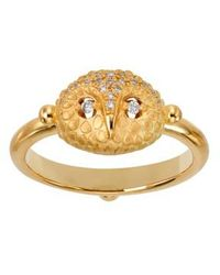 Temple St. Clair - Temple St. Clair Diamond Owl Ring - Lyst