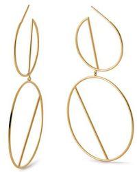 Lana Jewelry - Double Wire Eclipse Hoop Earrings - Lyst