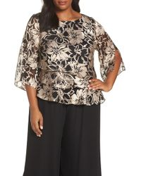Alex Evenings - Flower Print Blouse - Lyst