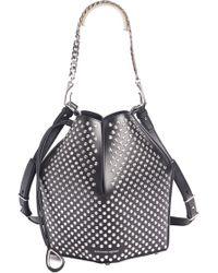 Alexander McQueen - Studded Leather Bucket Bag - Lyst