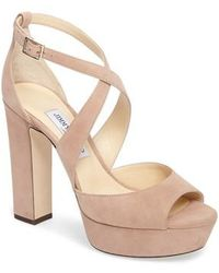 Jimmy Choo - April Platform Sandal - Lyst
