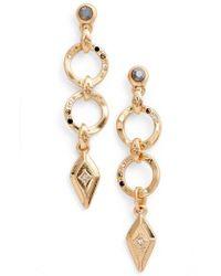Treasure & Bond - Geo Jewel Drop Earrings - Lyst