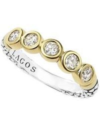 Lagos - Diamond Stacking Ring - Lyst