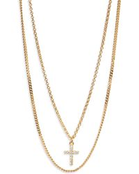 Argento Vivo - Double Layer Cross Necklace - Lyst