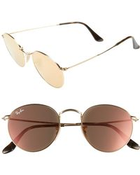 Ray-Ban - Icons 50mm Round Sunglasses - - Lyst