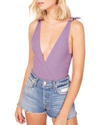 Reformation - Macey Wrap Style Bodysuit - Lyst