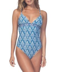 Rip Curl - South Winds Print One-piece Swimsuit - Lyst