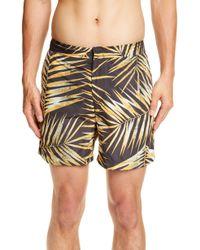 b2e1e613f8dff DIESEL Tiger Nylon Swimming Trunks in White for Men - Lyst