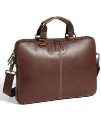 Boconi - 'bryant' Slim Leather Laptop Briefcase - - Lyst